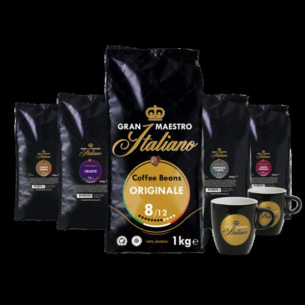Gran Maestro Italiano Met goud gekroonde koffie