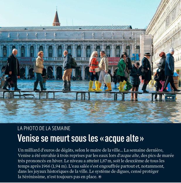 """Venise se meurt sous les """" acque alte """""""
