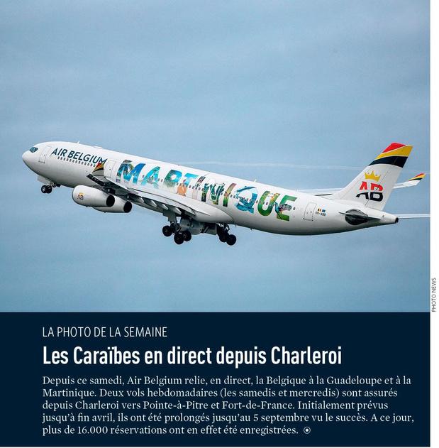 Les Caraïbes en direct depuis Charleroi