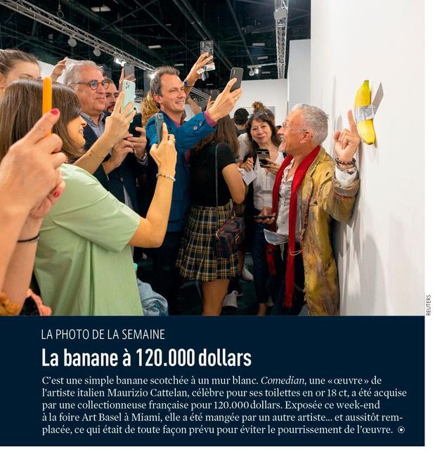 La banane à 120.000 dollars