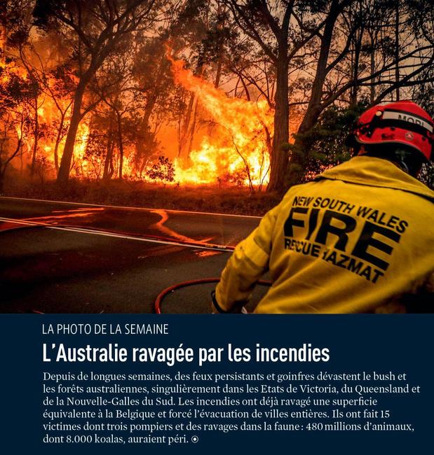 L'Australie ravagée par les incendies