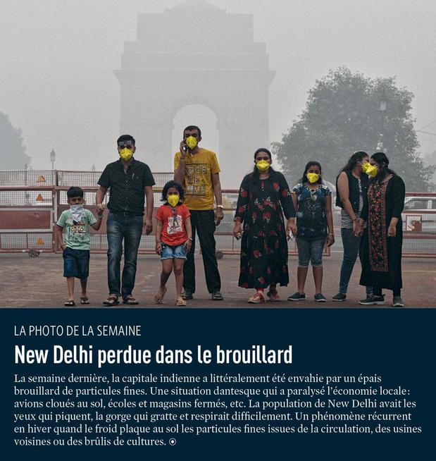 New Delhi perdue dans le brouillard