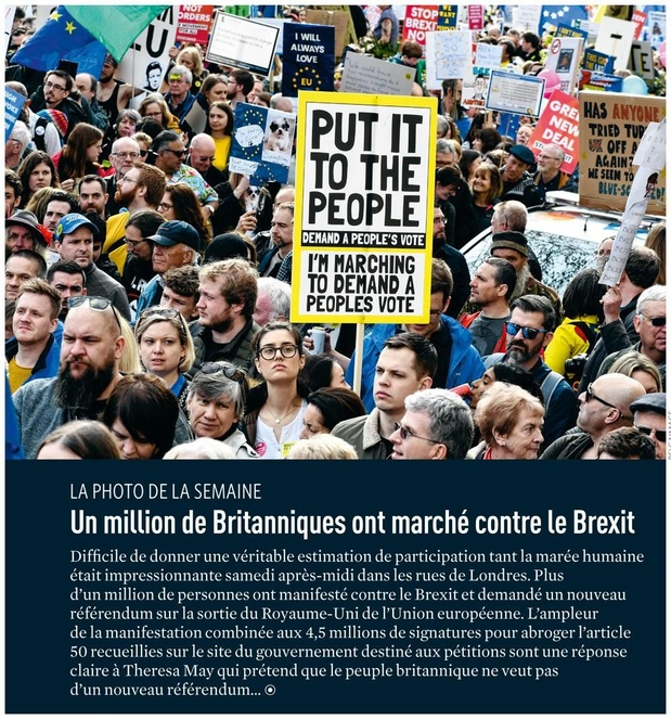 Un million de Britanniques ont marché contre le Brexit