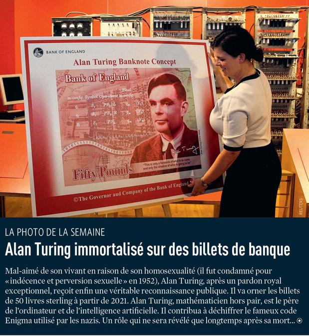 Alan Turing immortalisé sur des billets de banque