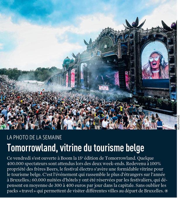 Tomorrowland, vitrine du tourisme belge
