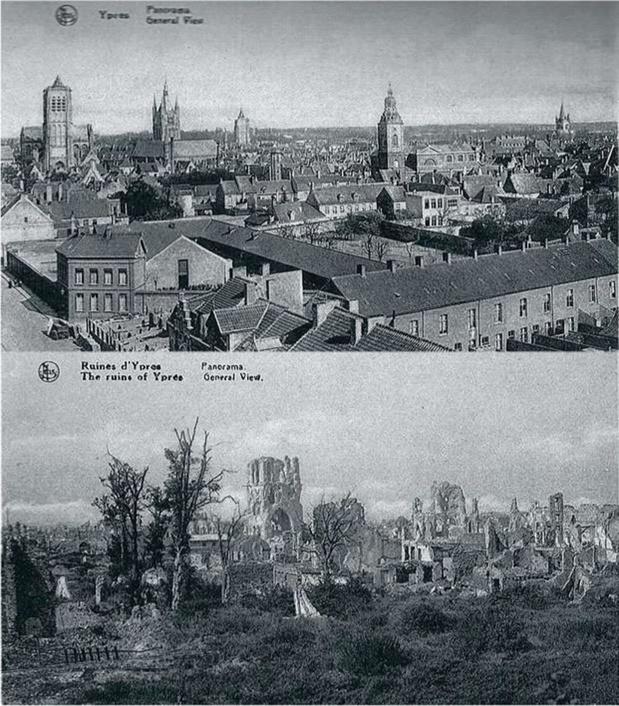 A la fin de la Première Guerre mondiale, des ruines sacralisées