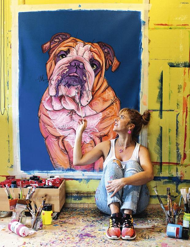 Romina De Gregorio est peintre animalière