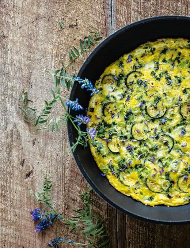 """Omelette """"sans souci"""" à la calendule"""
