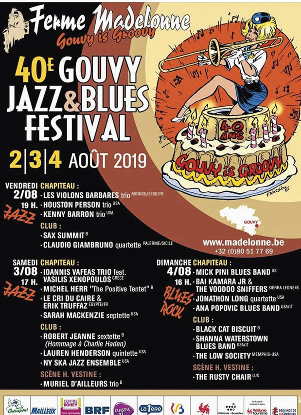 1x2 places pour le Gouvy Jazz & Blues Festival