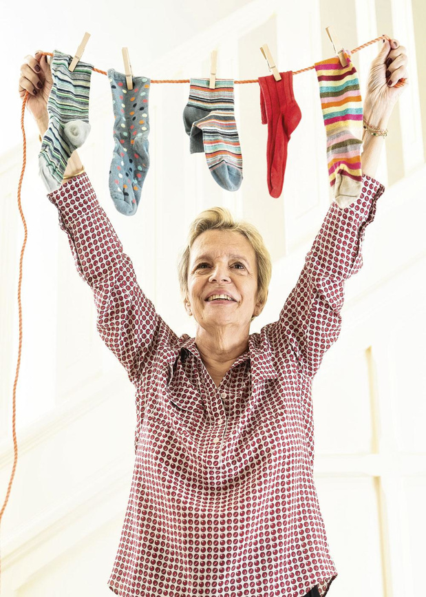 Catherine Ullens organise l'Opération Chaussettes