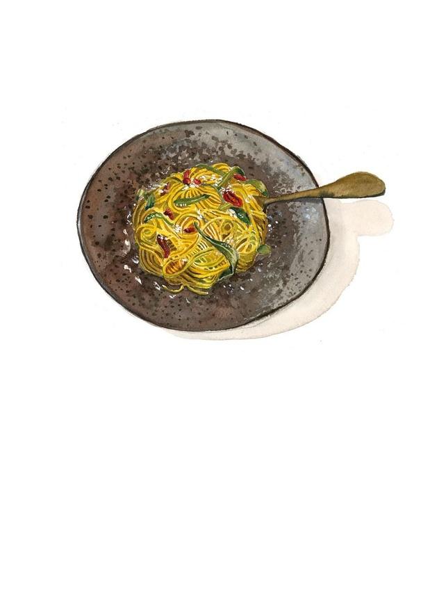 Pasta met zeekraaltapenade en lamsoor