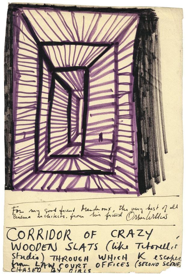 Orson Welles tekent Kafka