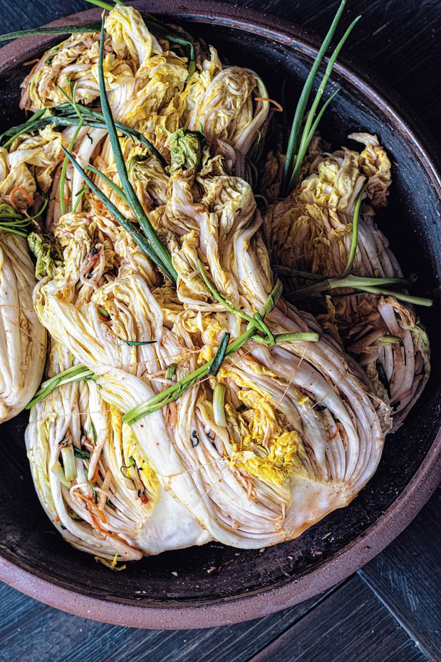 Baek-kimchi (witte kimchi van Chinese kool)