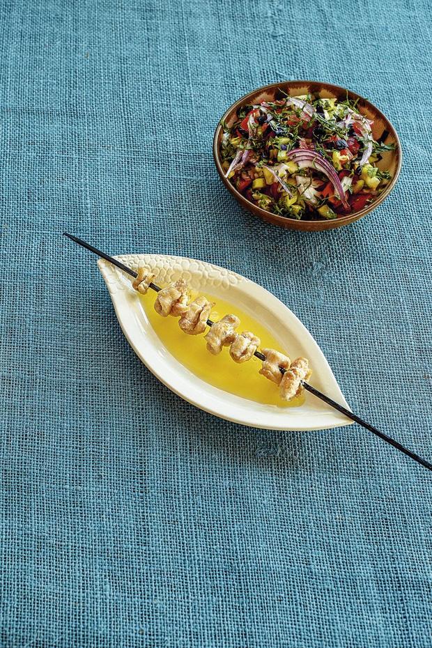 Recette: Kebabs de sole - dil sis