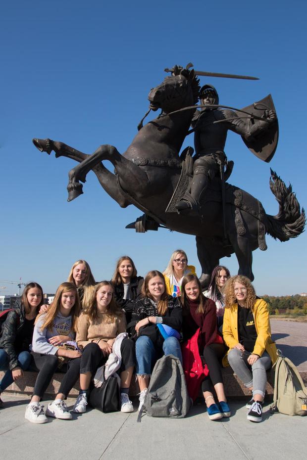 Collegeleerlingen 't Saam op Erasmus in Litouwen