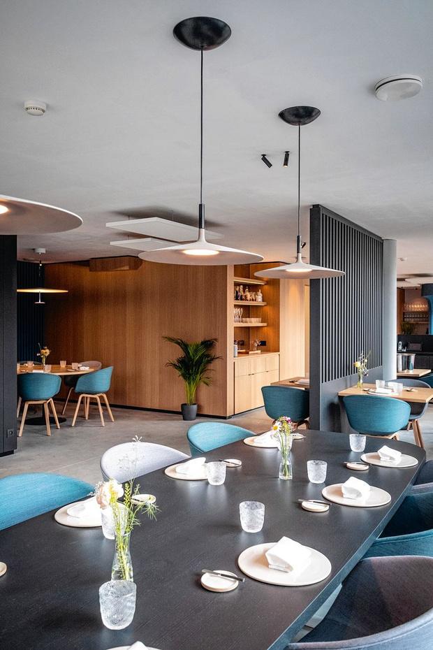Restaurant Maste in Gent: hier is een vakman aan het werk