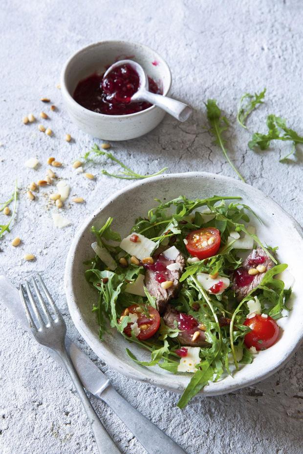 Salade de boeuf au confit d'oignons ardennais