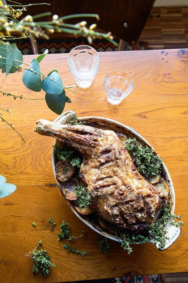 Ovenschotel boulangère met lamsvlees