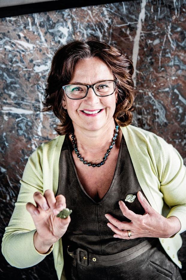 Kristin Praet maakt klimaatpin