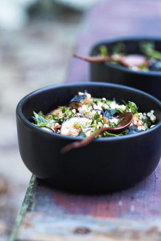 Tabouleh van quinoa en vijgen (voor 4 personen)