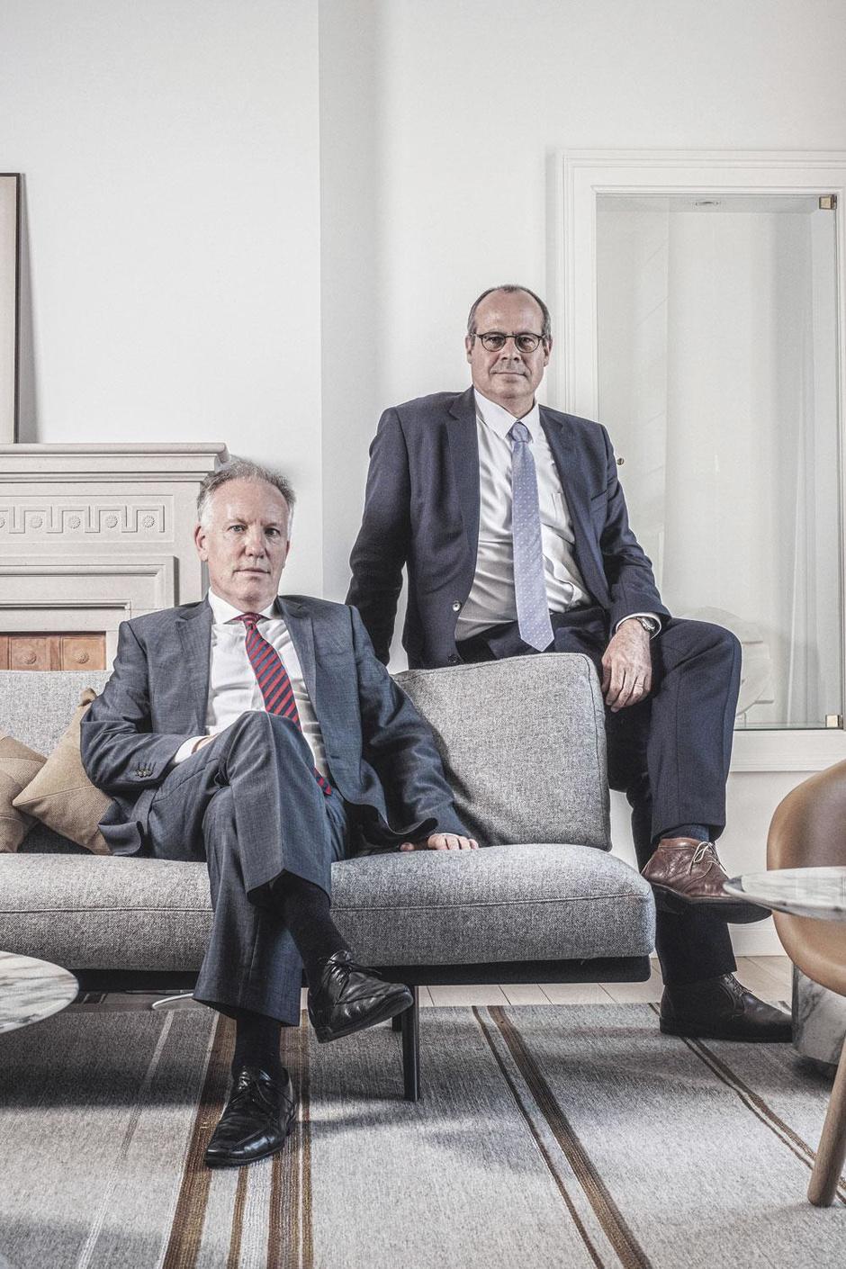 Tom Dechaene en  Koen Algoet (Nationale Bank): 'Als het goed gaat, kent niemand ons.'