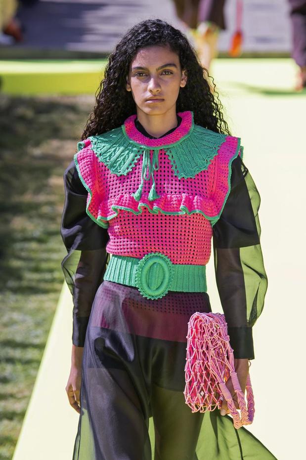 Milan Fashion Week: La collerette en crochet de Massimo Giorgetti
