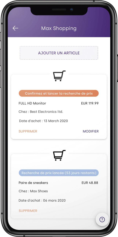 Max Shopping, le nouveau produit d'Aion