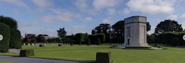 Kapel Amerikaanse Begraafplaats in Waregem in 3D Open-heritage platvorm van Google