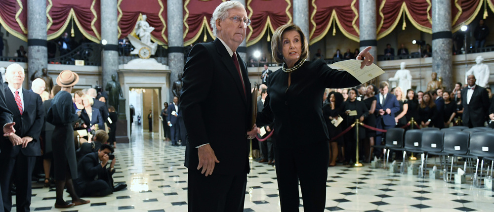 Mitch McConnell et Nancy Pelosi, Getty Images