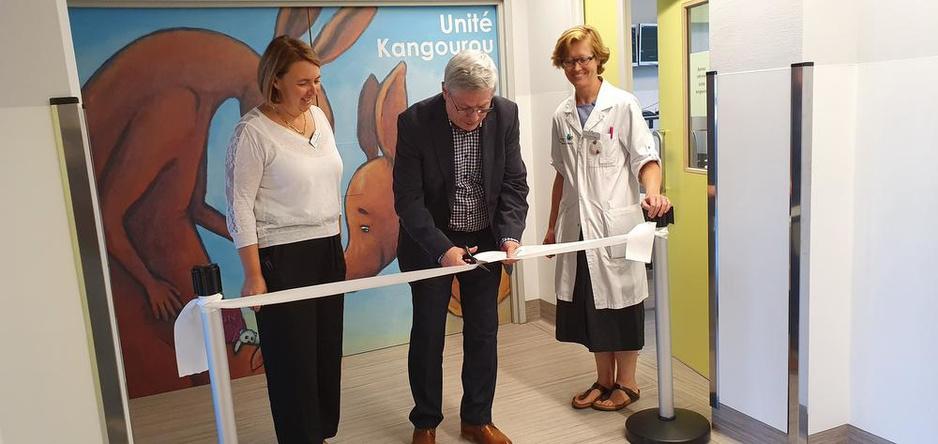 Le CHR de Namur inaugure sa nouvelle unité kangourou