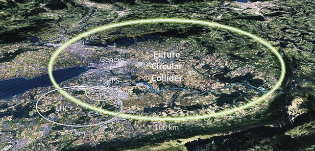 CERN wil een deeltjesversneller bouwen van 100 km