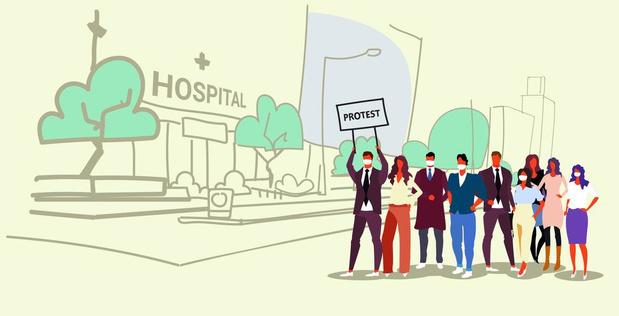 Arrêts de travail dans les hôpitaux publics bruxellois
