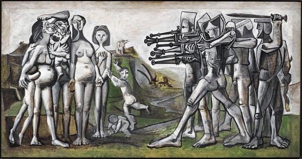 Picasso in strijd met de oorlog