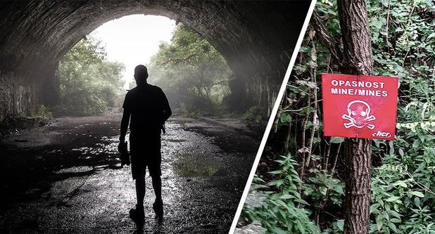 Onze journalist over de gevaarlijkste trip van zijn leven: ondergronds avontuur eindigt in mijnenveld