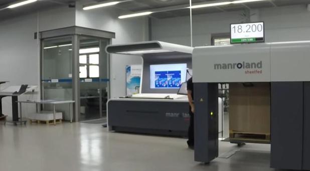 Nieuwe installaties van manroland Benelux