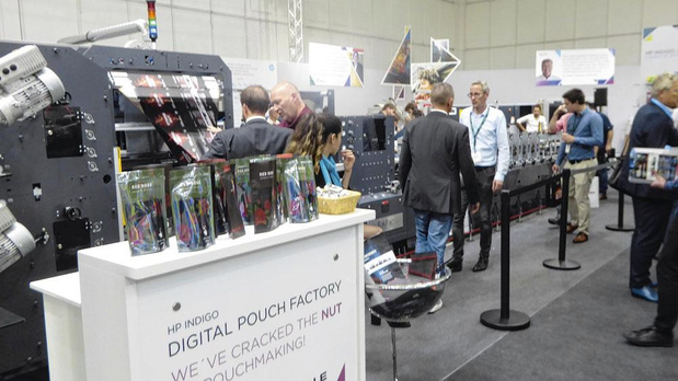 Pouches in opmars op Labelexpo