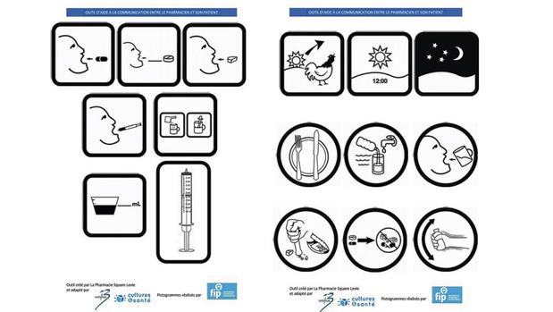 Les pictogrammes, nouvel espéranto des pharmaciens ?