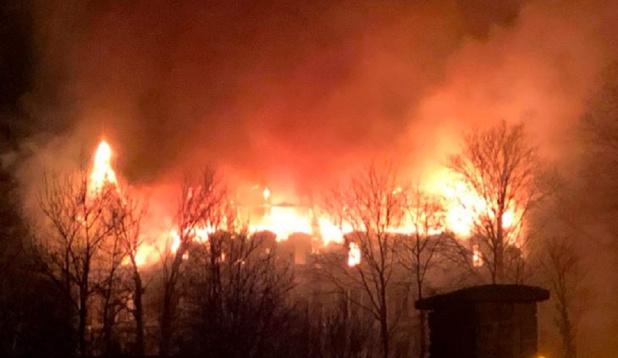 Le château de Dongelberg à Jodoigne a pris feu