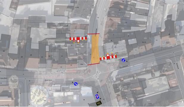 Tijdelijke verkeershinder in Menen door werken in Bruggestraat
