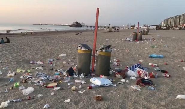 Toeristen laten nog te veel vuilnis achter op strand Blankenberge