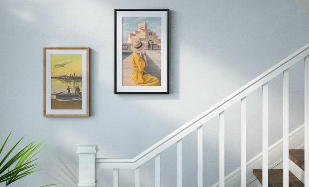 Kunstwerken of foto's tonen op slim canvas