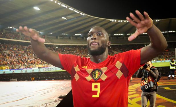 """Lukaku estime être """"le meilleur attaquant belge de tous les temps"""""""