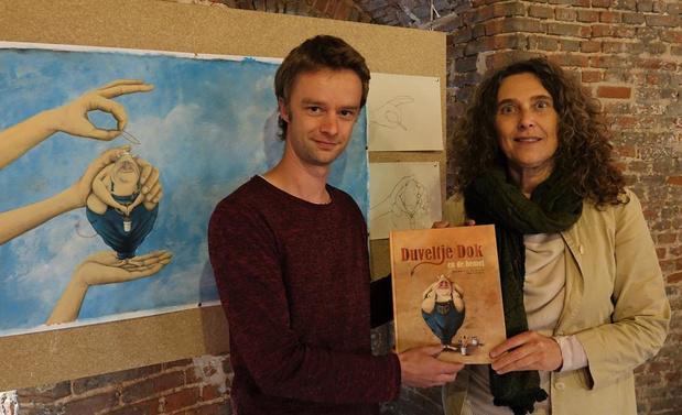 Linde Moreel en Nikola Hendrickx maken samen kinderboek Duveltje Dik en de hemel