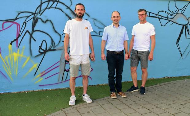 Graffitimuur in De Biesweide in Beselare