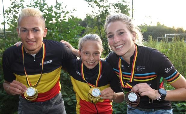 Triatlon Brugge Team viert nationale kampioen crossduatlon