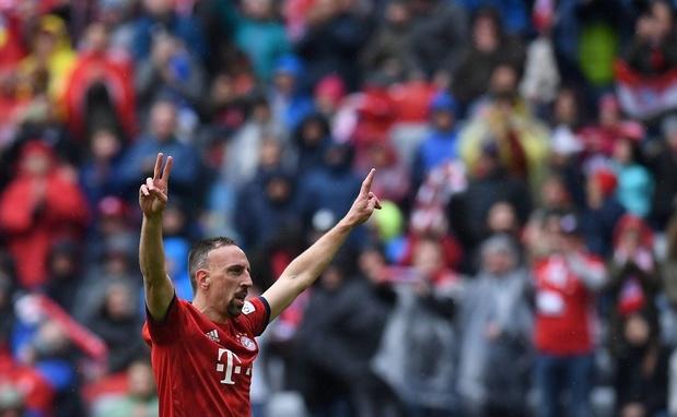 Ribéry à un match du record absolu de titres en Bundesliga