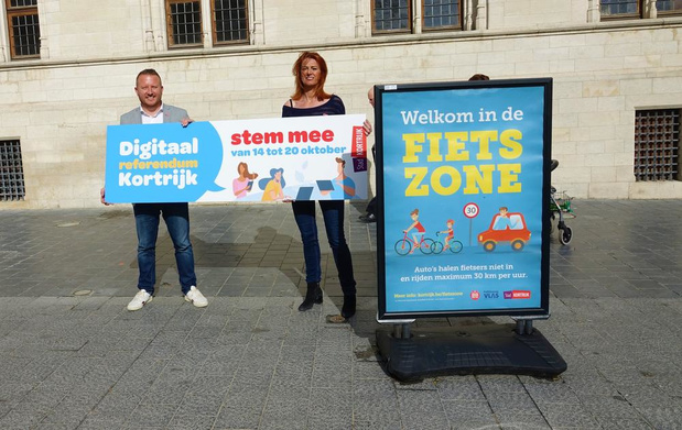 Kortrijkzanen kunnen stemmen over maandelijkse autovrije dag in binnenstad