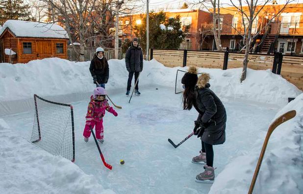 A Montréal, on patine dans son jardin