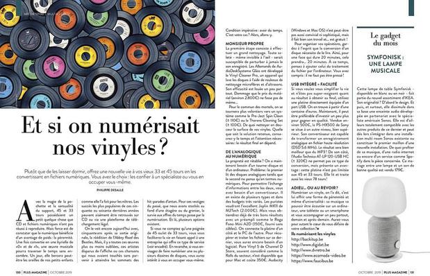 Vieux vinyles et numérique