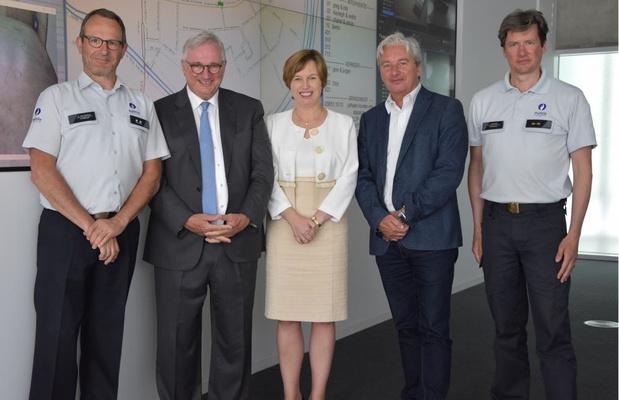 Europol-baas Catherine De Bolle brengt werkbezoek aan PZ Westkust in Koksijde